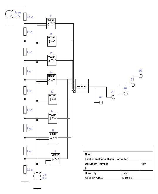 схема паралельного АЦП.